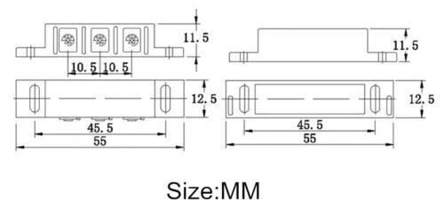 Window or Door Security Reed Switch with Magnet Dimensions