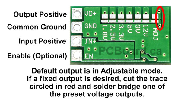 Ultra-Small Size DC-DC Step Down Power Supply Module 3A Buck Converter Adjustable 1.8V 2.5V 3.3V 5V 9V 12V Adjustment Option