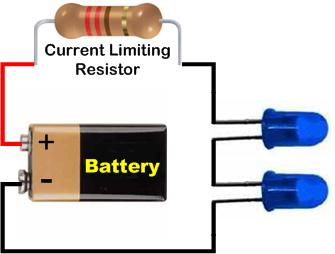Multiple LED Dropping Resistor Circuit